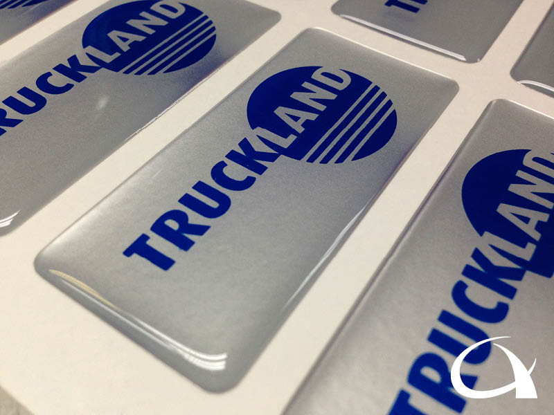 Truckland doming stickers